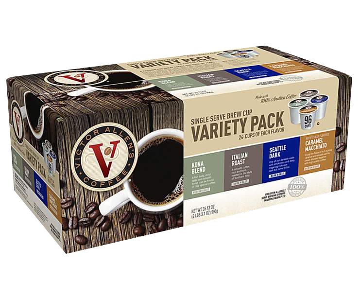 Victor Allen's Specialty Coffee Variety Pack, 96 Count, Medium-Dark Roast, Single Serve Coffee Pods for Keurig K-Cup Brewers