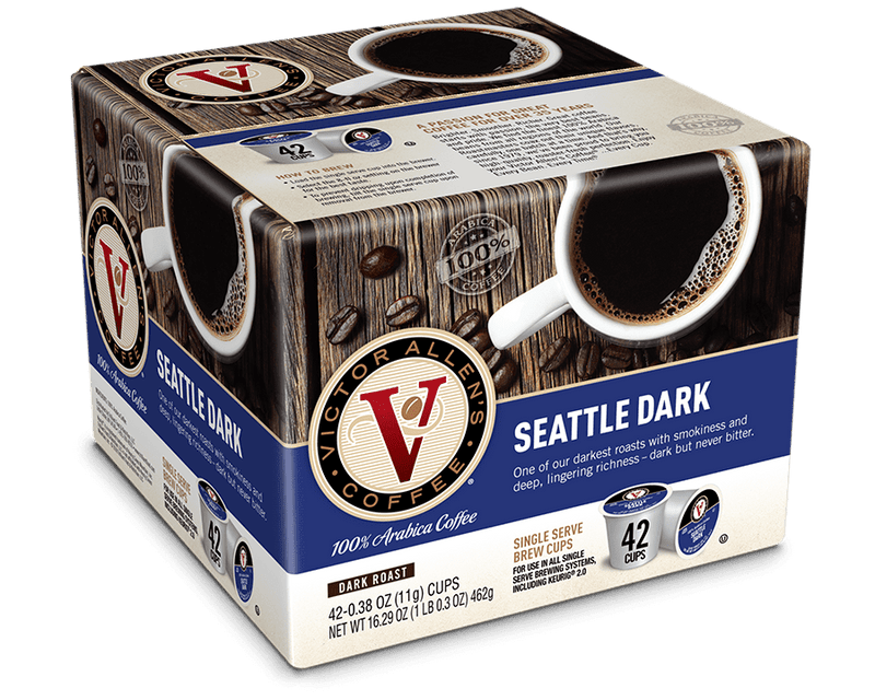 Seattle Dark Coffee Pods for K-Cup Keurig 2.0 Brewers