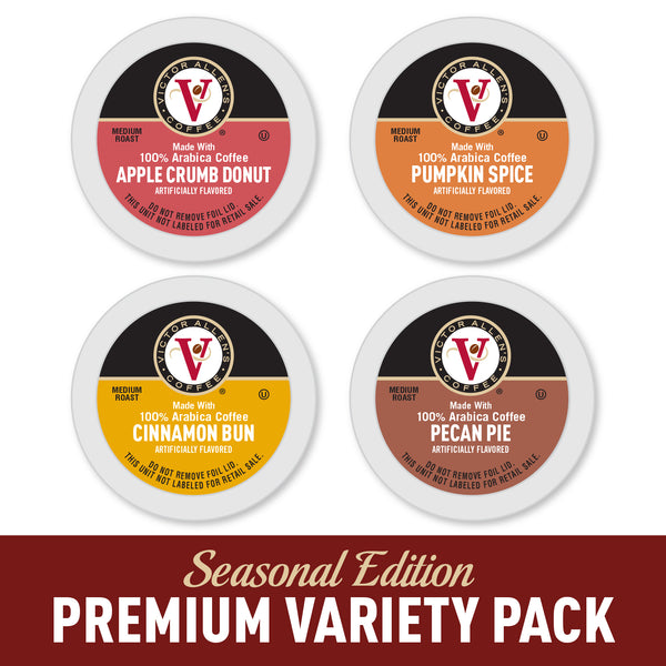 Victor Allen's Coffee, Autumn Favorites Variety Pack, 96 Count, Single Serve Coffee Pods for Keurig K-Cup Brewers
