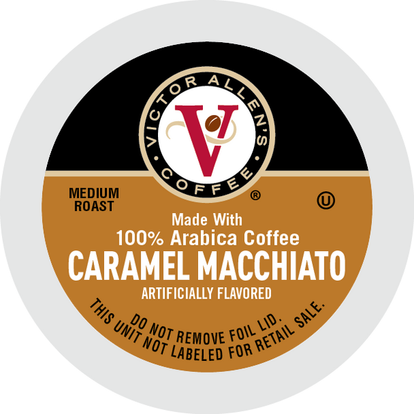 Victor Allen's Coffee Caramel Macchiato, Medium Roast, Single Serve Coffee Pods for Keurig K-Cup Brewers