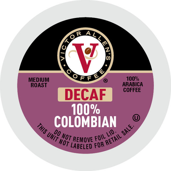 Victor Allen's Coffee 100% Decaf Colombian, Medium Roast, Single Serve Coffee Pods for Keurig K-Cup Brewers