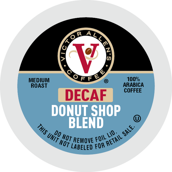 Victor Allen's Coffee Decaf Donut Shop Blend, Medium Roast, Single Serve Coffee Pods for Keurig K-Cup Brewerswers