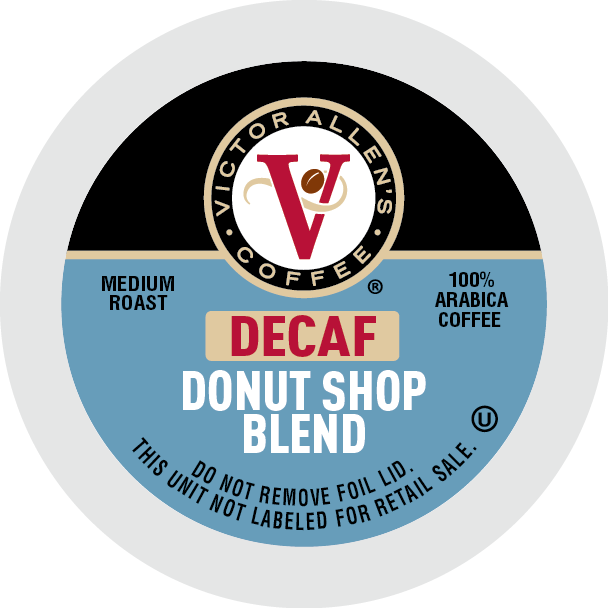 Victor Allen's Coffee Decaf Donut Shop Blend, Medium Roast, Single Serve Coffee Pods for Keurig K-Cup Brewers