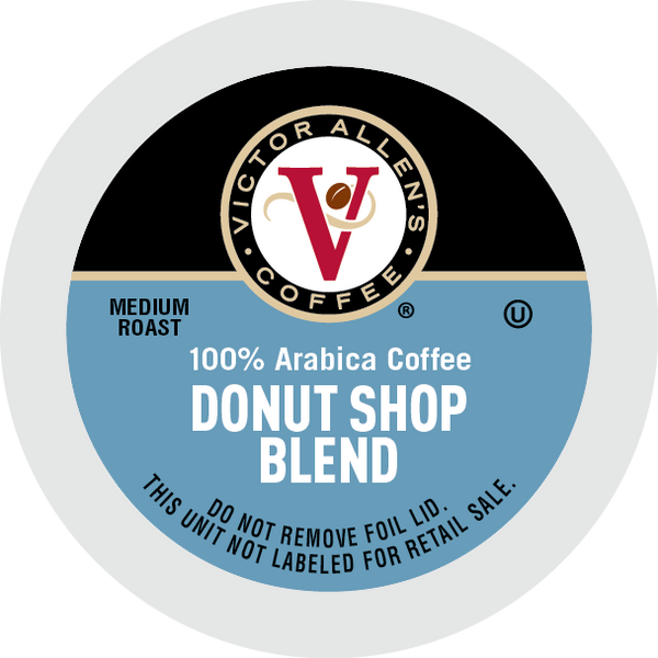 Victor Allen's Coffee Donut Shop Blend, Medium Roast, Single Serve Coffee Pods for Keurig K-Cup Brewers