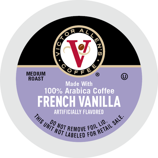 Victor Allen's Coffee French Vanilla Flavored, Medium Roast, Single Serve Coffee Pods for Keurig K-Cup Brewers