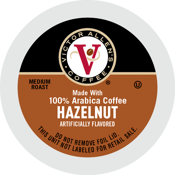 Victor Allen's Coffee Hazelnut, Medium Roast, Single Serve Coffee Pods for Keurig K-Cup Brewers