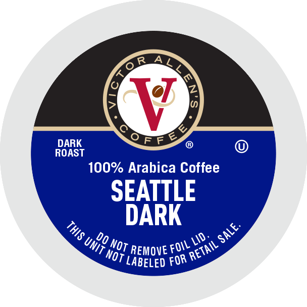 Victor Allen's Coffee Seattle Dark, Dark Roast, Single Serve Coffee Pods for Keurig K-Cup Brewers