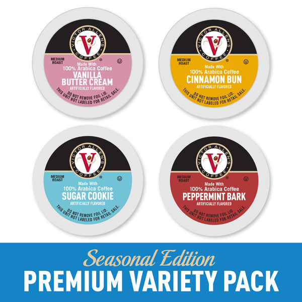 Victor Allen's Coffee Winter Wonderland Variety Pack, Medium Roast, Single Serve Coffee Pods for Keurig K-Cup Brewers