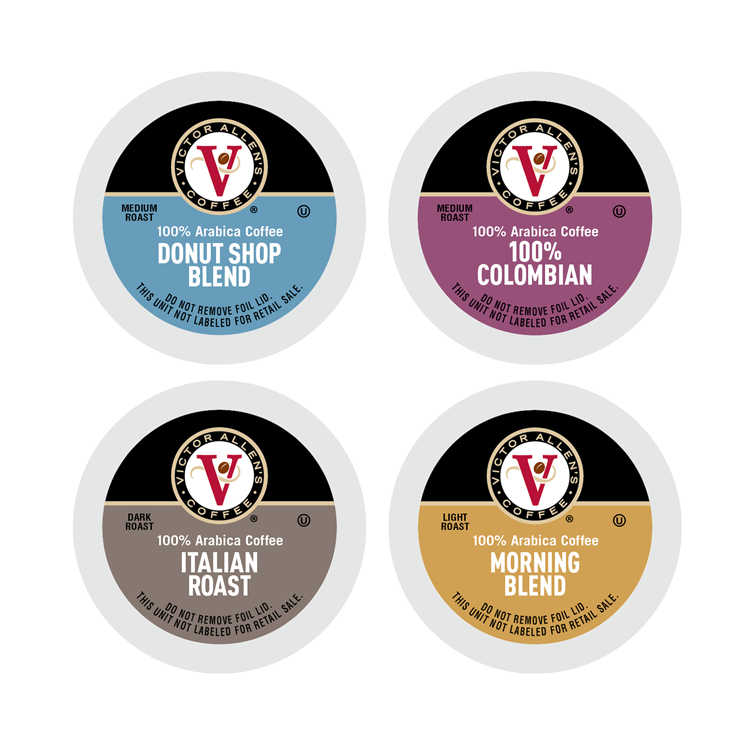 Victor Allen's Coffee Variety Pack, Light-Dark Roasts, 80 Count, Single Serve Coffee Pods for Keurig K-Cup Brewers