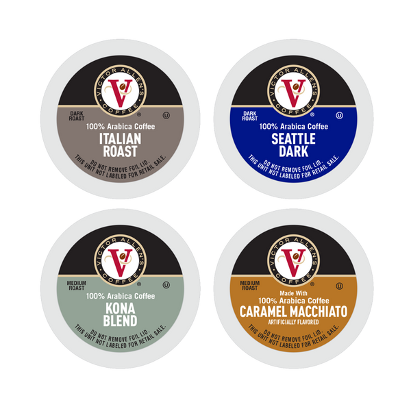 Victor Allen's Coffee Variety Pack, Medium-Dark Roast, Single Serve Coffee Pods for Keurig K-Cup Brewers