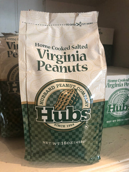 Hubs Home Cooked Salted Virginia Peanuts - 16 oz.