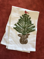 Tree with Cardinal Tea Towel