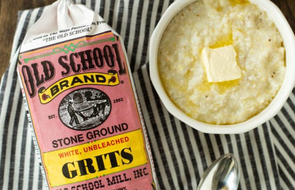 Old School Mill Stone-Ground White Grits