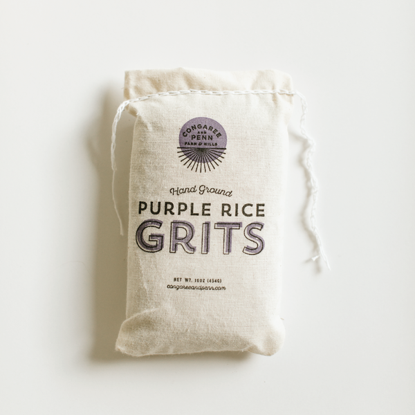 Congaree and Penn Purple Rice Grits