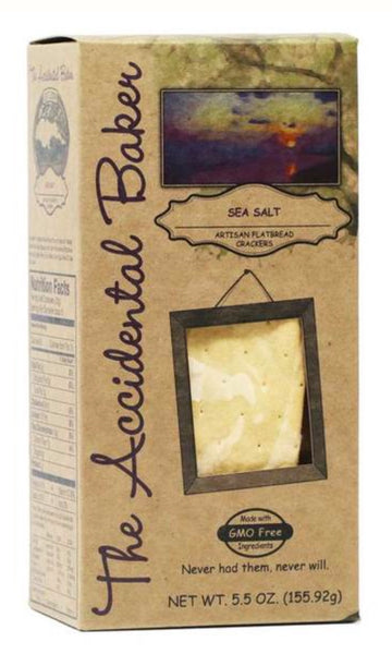 The Accidental Bakery Sea Salt Artisan Flatbread Crackers