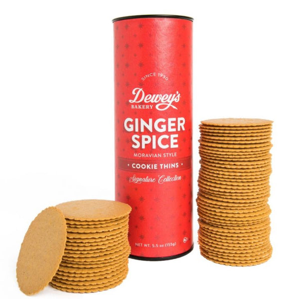 Dewey's Ginger Spice Moravian Cookies - large tube 5.5 oz