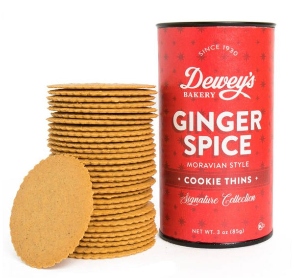 Dewey's Ginger Spice Moravian Cookies - small tube 3 oz