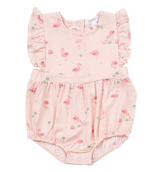 Flamingo Ruffle Sun Suit