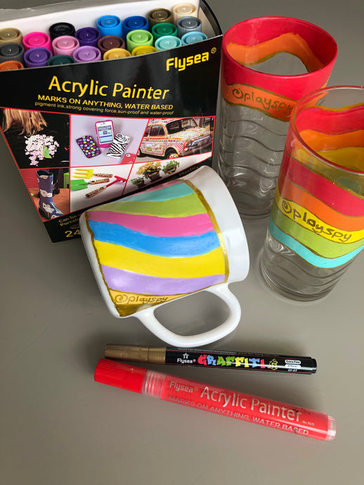 Make Acrylic Pens Stay on Ceramics and Glass