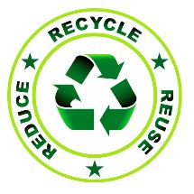 WE CARE about the enviroment. Recycle, Reduce, Reuse.