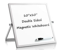 Load image into Gallery viewer, Whiteboard Double Side Dry Erase with Aluminum Frame