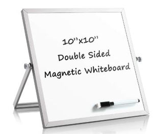 Whiteboard Double Side Dry Erase with Aluminum Frame