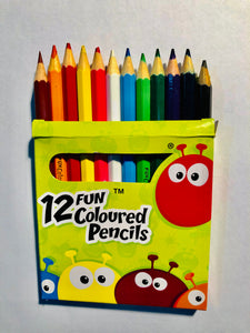 X Coloured Pencils - 12 pack (half size)