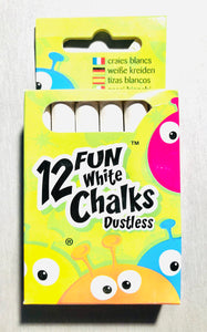 X Chalk - 12 pack. White Sets