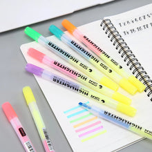 Load image into Gallery viewer, Highlighters Dual Tip Fluorescent - Yellow + 6 colours available