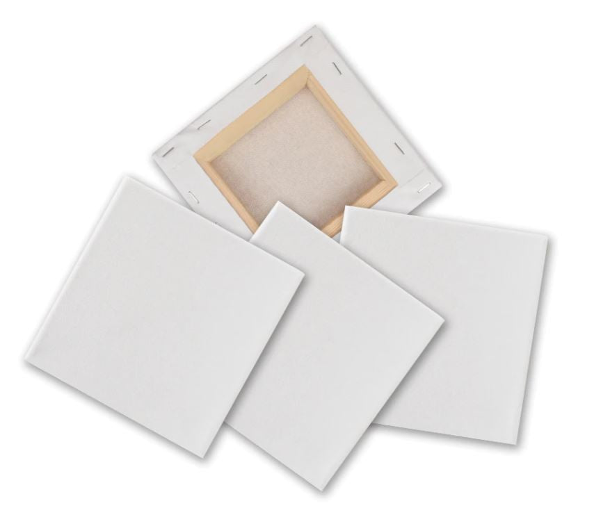 Craft-it.  Mini Stretched Canvas 15*15cm Cotton White Blank Canvas