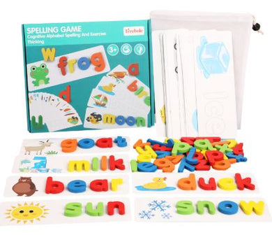 A Spelling Game Education/Learning - with Wooden Alphabet