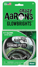 Load image into Gallery viewer, CRAZY AARON'S PUTTY - Glowbrights Dragons Scale, 10cm