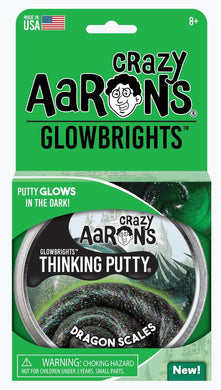 CRAZY AARON'S PUTTY - Glowbrights Dragons Scale, 10cm