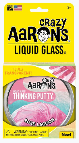 CRAZY AARON'S PUTTY - Liquid Glass Rose Lagoon, 10cm