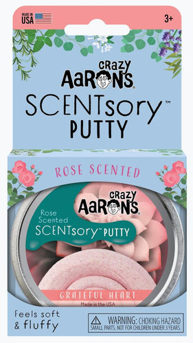 Aromatherapy Scented Putty - Grateful Heart (Rose) 6.35cm Tin