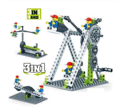 Mechanical Gear Bricks Set. 95pcs. (STEM learning)
