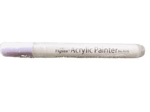 Acrylic Paint WHITE Pen - Normal tip use on rocks, paper, fabric etc..