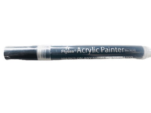 Acrylic Paint BLACK Pen -2mm tip use on rocks, paper, fabric etc.