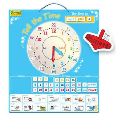 Telling the Time Large Magnetic Chart
