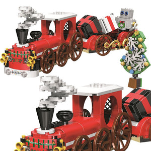 Christmas Red Santa Train Bricks/Blocks Set 345pcs - Build Your Own Xmas