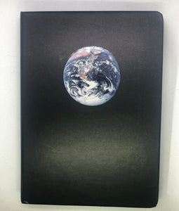Night Black Blank Paper Planet Notebook, Planner, Sketchbook, Diary, or Journal