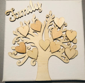 Craft-it.  Wooden Blank Family Tree Set.