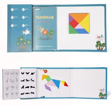 A Tangram Magnetic Puzzle includes Whiteboard & Pen with Eraser