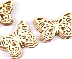 Craft-it. Wooden Creativity Hollow out Butterfly Pattern (10pcs)