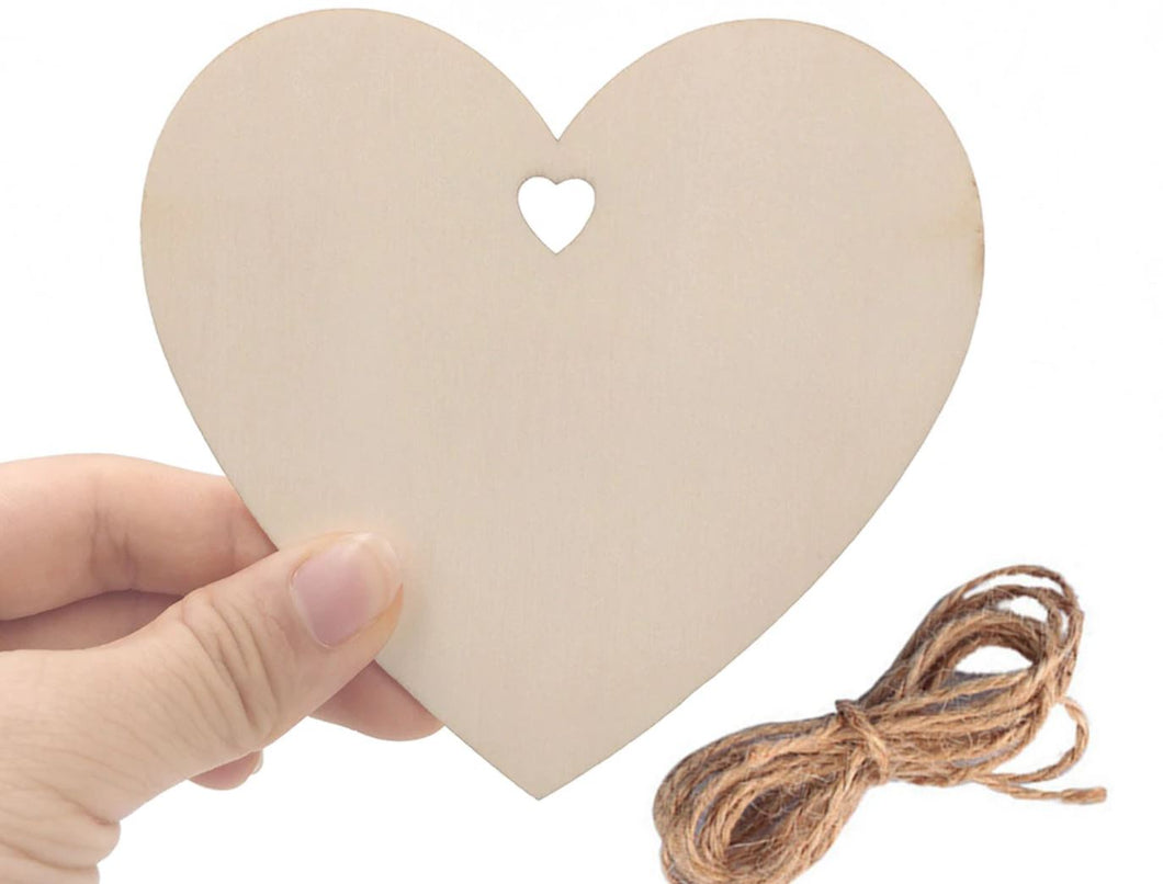 Craft-it.  A Wooden Heart Shape to Decorate.