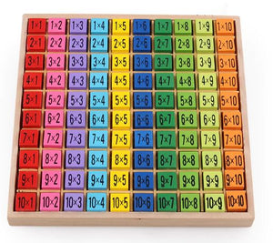Wooden Multiplication Table Math Learning