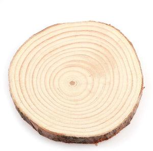 Craft-it. A Natural Thick Pine Wooden Round.