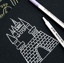 Load image into Gallery viewer, Joytop 36 Pages Notebook Black Paper + 10 Metallic Pens Combo