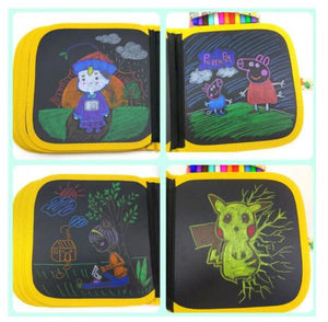 Erasable Drawing Soft Doodle Book - use with chalk pens