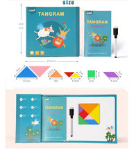 Load image into Gallery viewer, A Tangram Magnetic Puzzle includes Whiteboard & Pen with Eraser